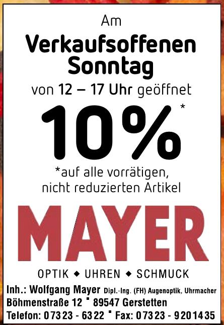 Mayer - Optik, Uhren, Schmuck