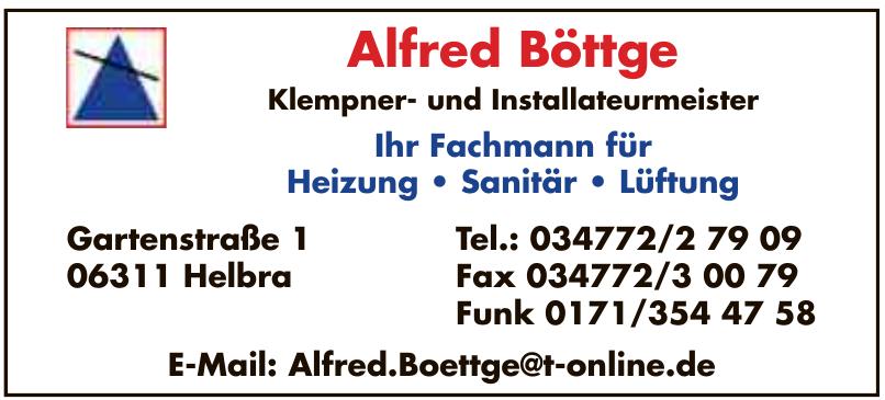 Alfred Böttge Klempner- und Installateurmeister