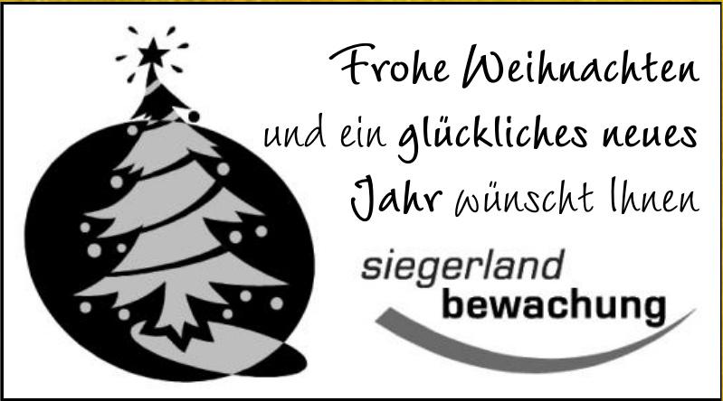 Siegerland Bewachung
