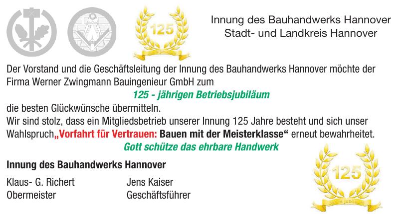 Innung des Bauhandwerks Hannover Stadt- und Landkreis Hannover