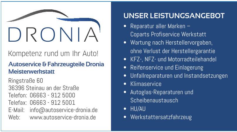Autoservice & Fahrzeugteile Dronia Meisterwerkstatt