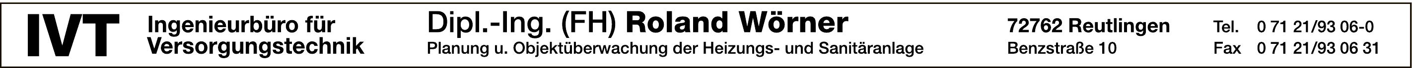 IVT Roland Wörner