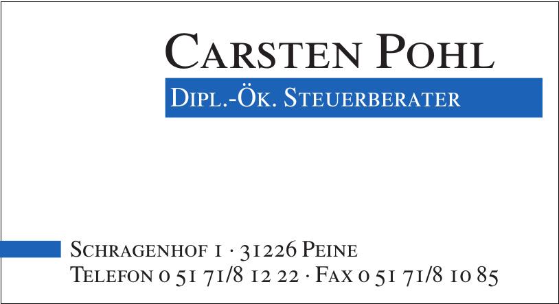 Carsten Pohl Dipl.-Ök. Steuerberater