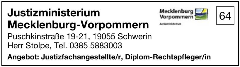 Justizministerium Mecklenburg-Vorpommern