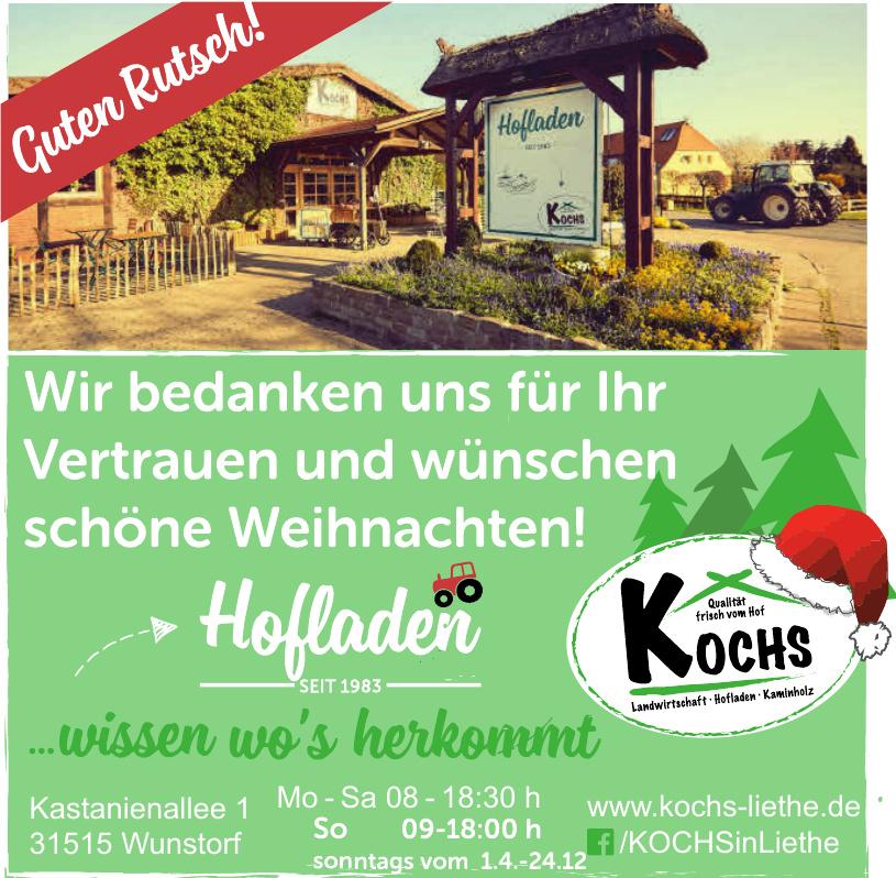 Kochs Landwirtschaft, Hofladen, Kaminholz