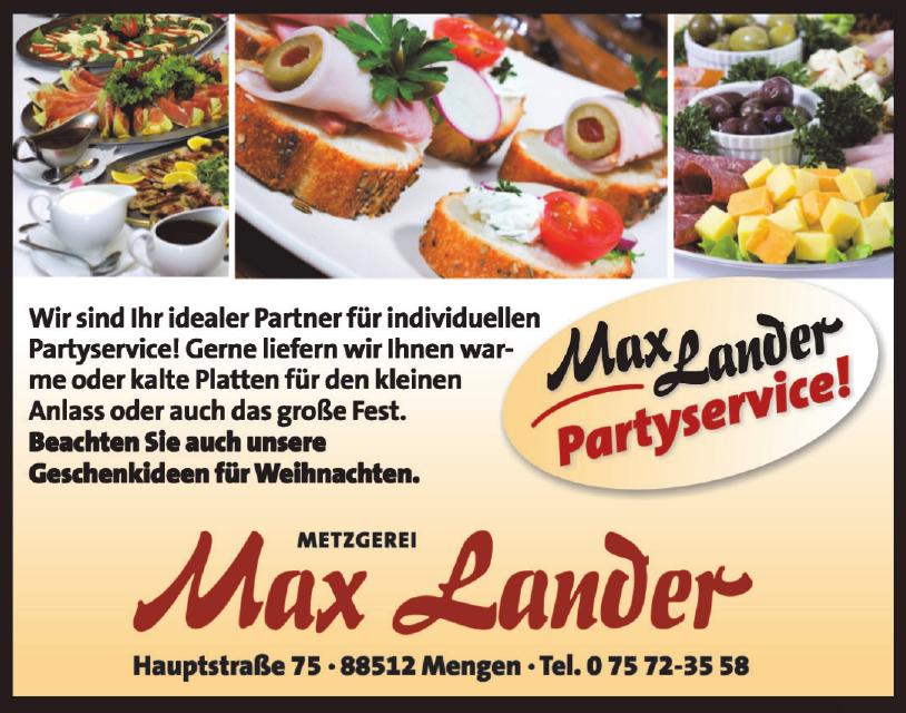 Metzgerei Max lander