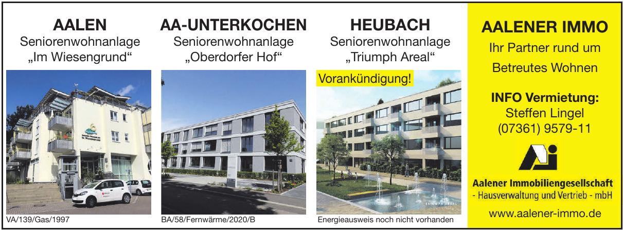 Aalener Immobiliengesellschaft-Hausverwaltung und Vertrieb mbH