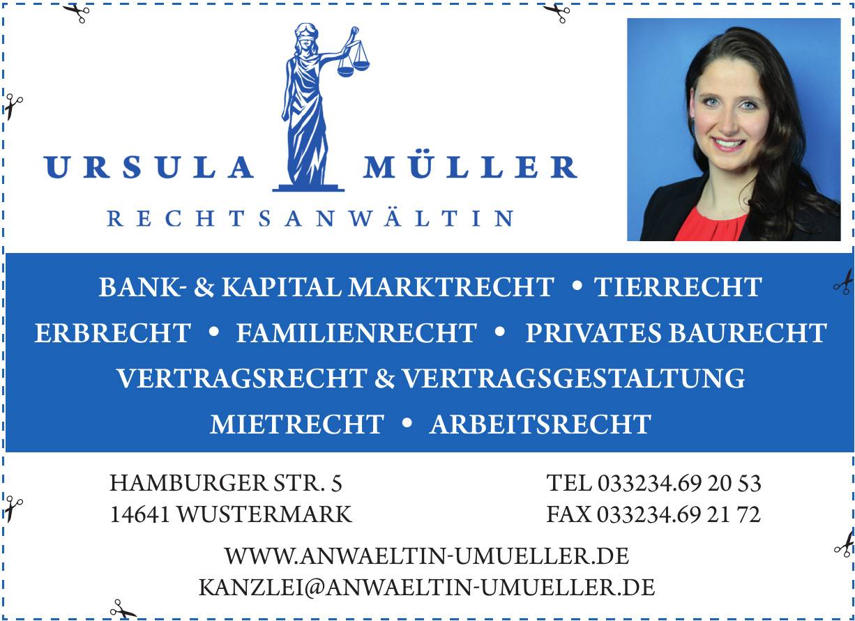 Rechtsanwältin Ursula Müller