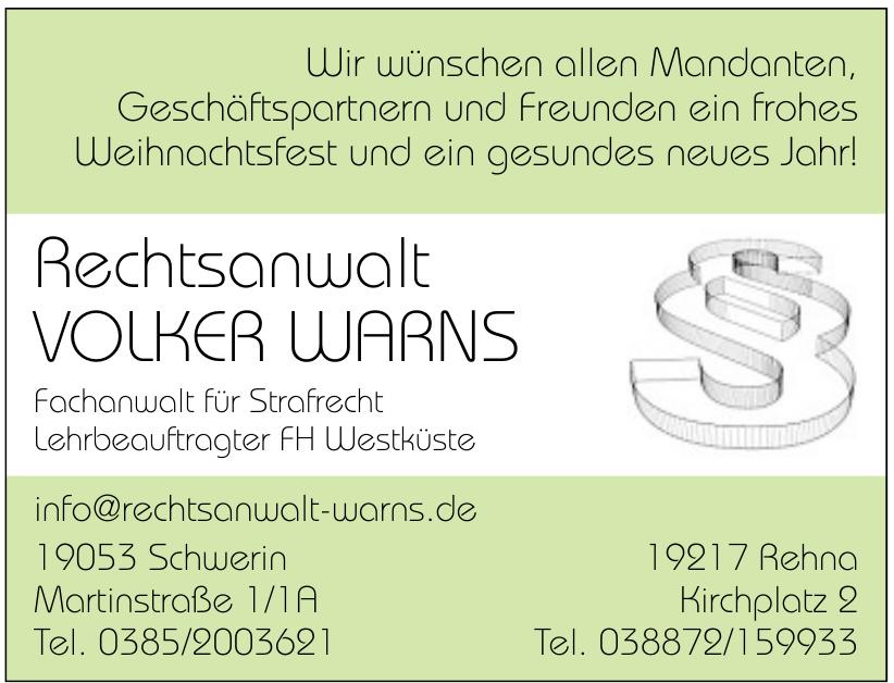 Rechtsanwalt Volker Warns
