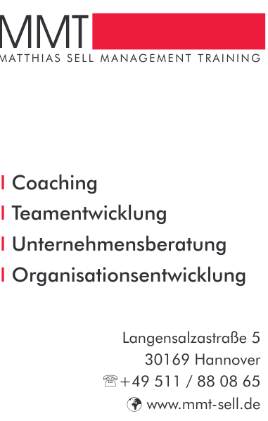 Matthias Sell Management Training