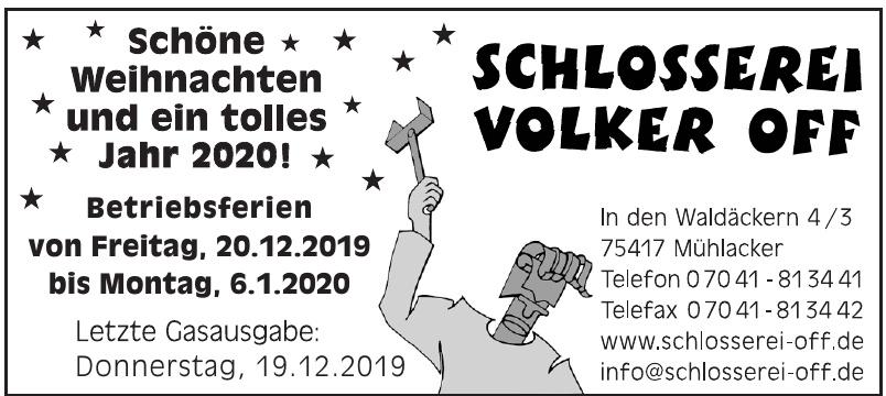 Schlosserei Volker Off
