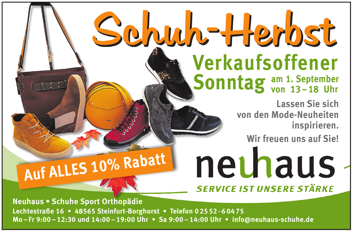 Neuhaus • Schuhe Sport Orthopädie