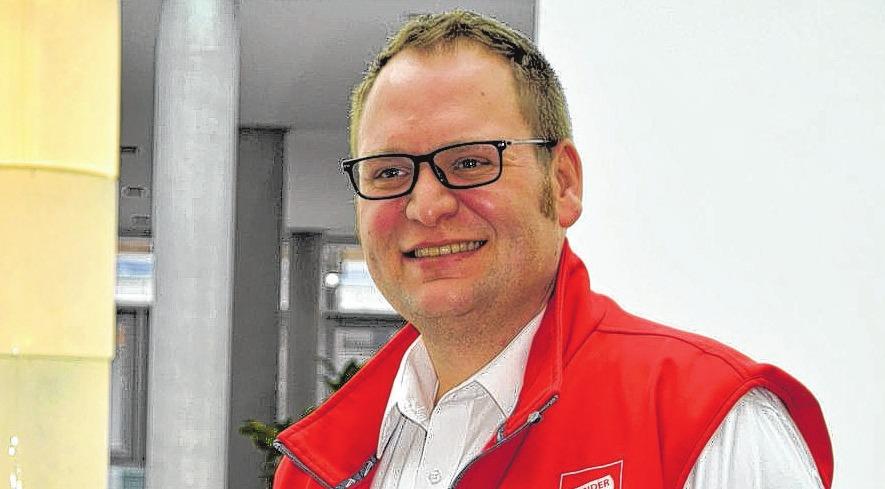 Benjamin Kulemann vom Sonderpreisbaumarkt hat mit seinem Team eine Menge für die Besucher der OstseeMesse geplant.