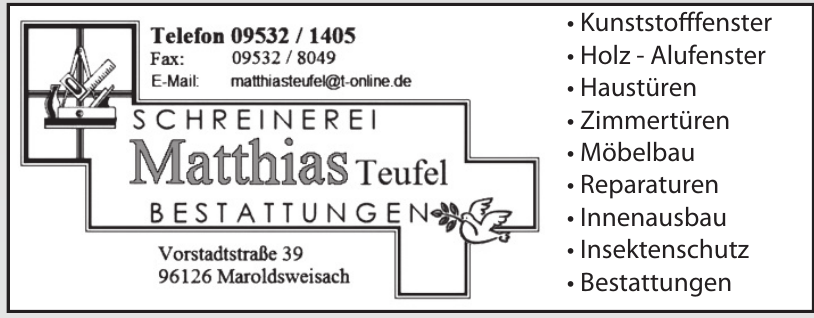 Schrenerei Matthias Teufel Bestattungen