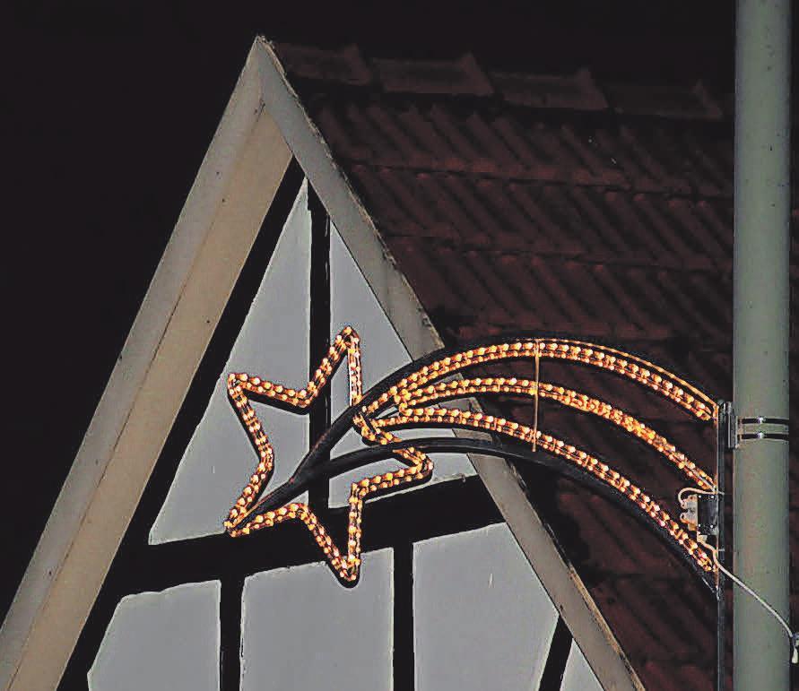 In diesem Jahr ist die Weihnachtsbeleuchtung bis nach Isernhagen-Süd erweitert worden.
