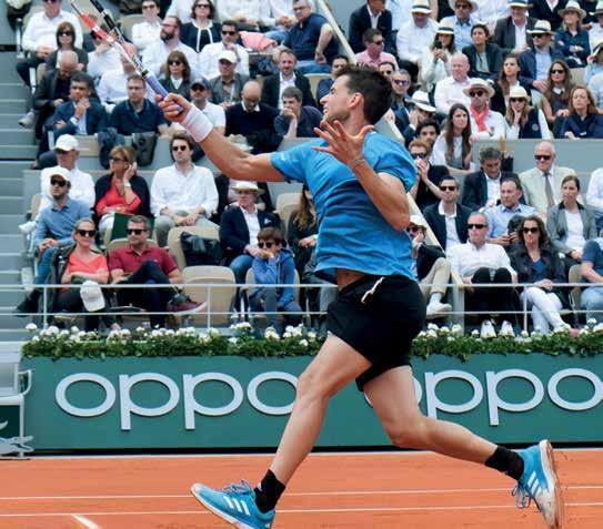 Der Star am Rothenbaum, French Open Finalist und die Nr. 4 der Welt, Dominic Thiem. Foto: Jürgen Hasenkopf