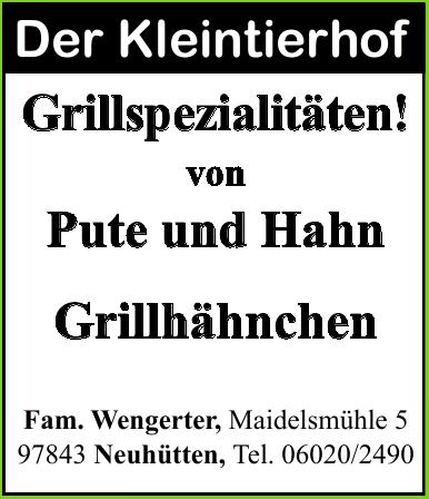 Der Kleintierhof, Fam. Wengerter
