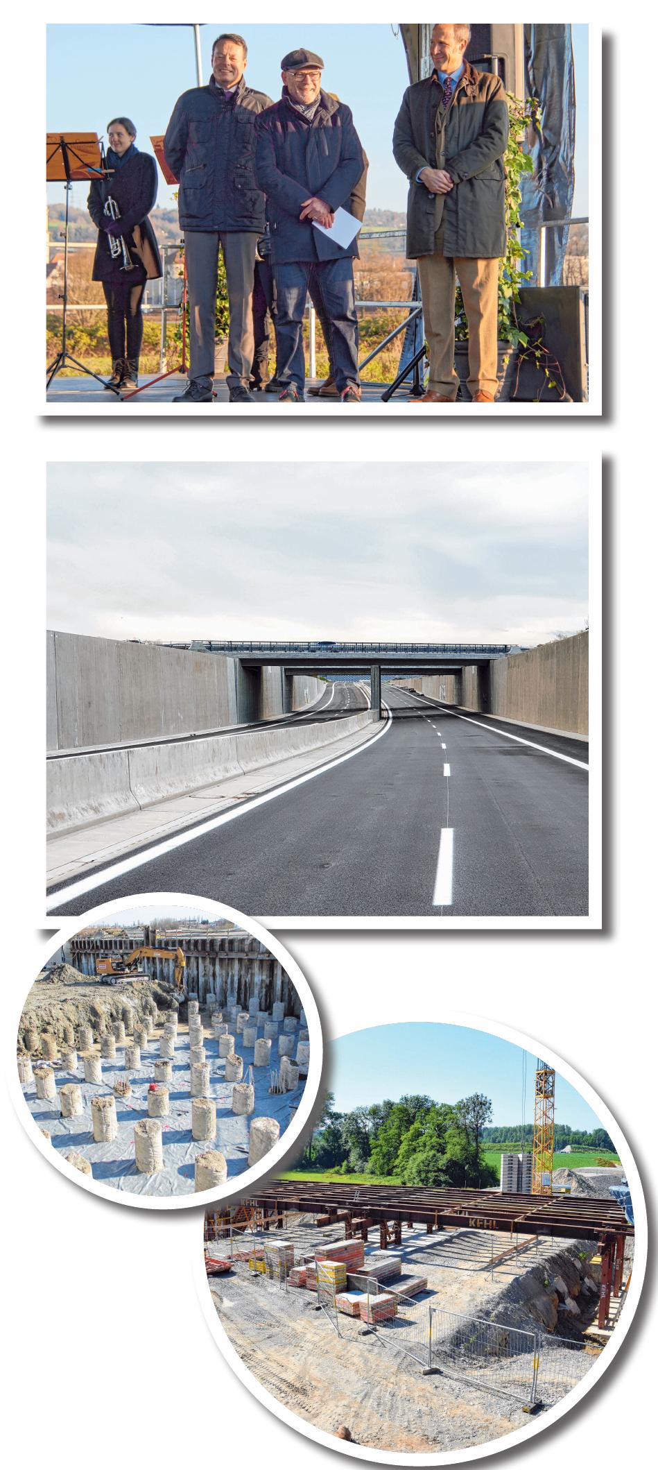 Der B 30 - Bauabschnitt zwischen Ravensburg-Süd und Untereschach ist fertiggestellt. Die feierliche Verkehrsfreigabe erfolgte am 30. November. FOTOS:REGIERUNGSPRÄSIDIUM TÜBINGEN