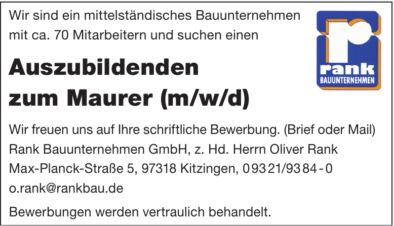 Rank Bauunternehmen GmbH