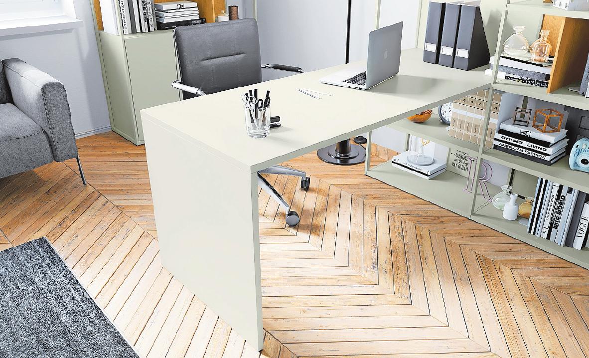 Ein hochwertig eingerichtetes Büro zu Hause ist auch gut für die Gesundheit. FOTO: DGM/HÜLSTA