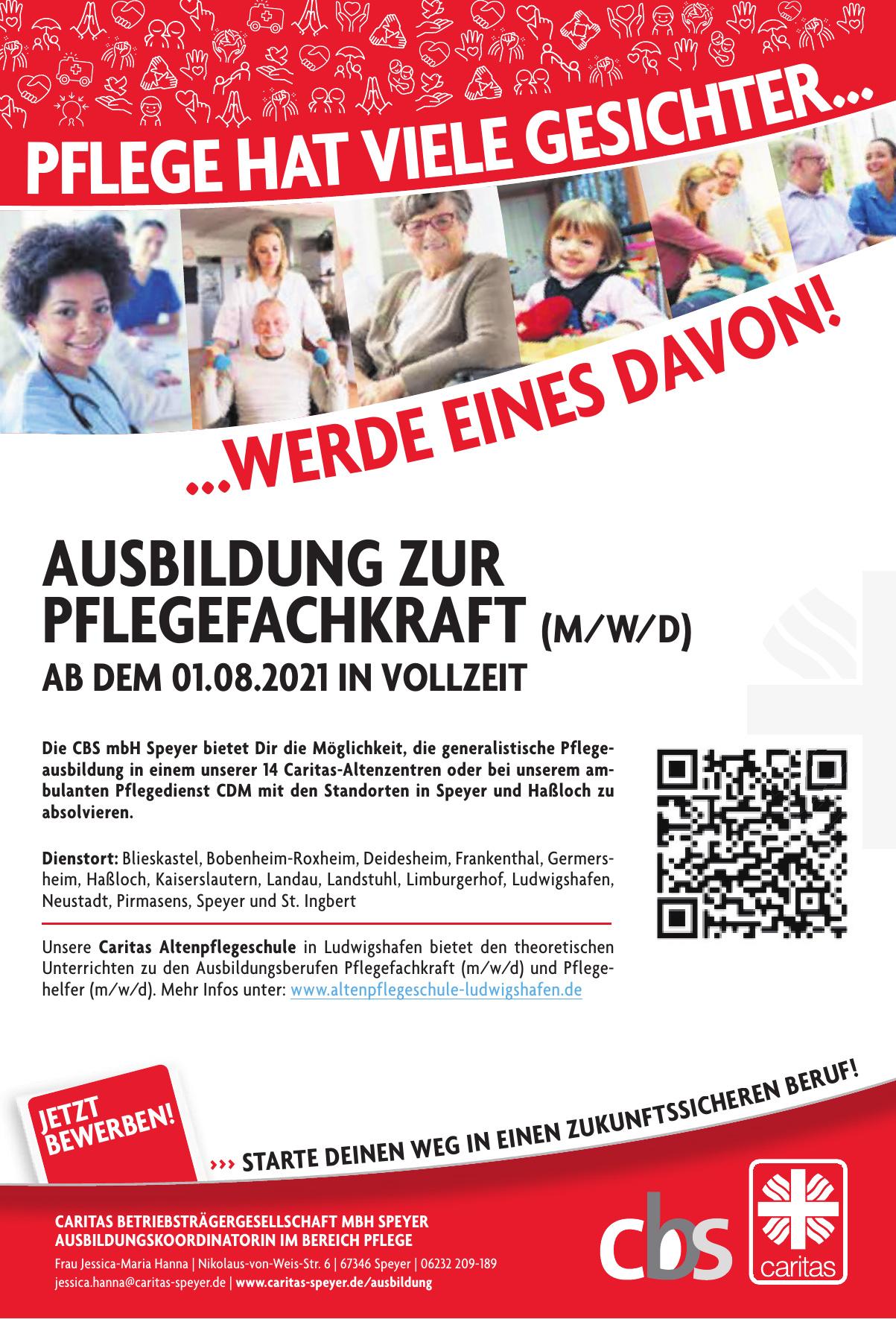 Caritas Betriebsträgergesellschaft (CBS) Speyer