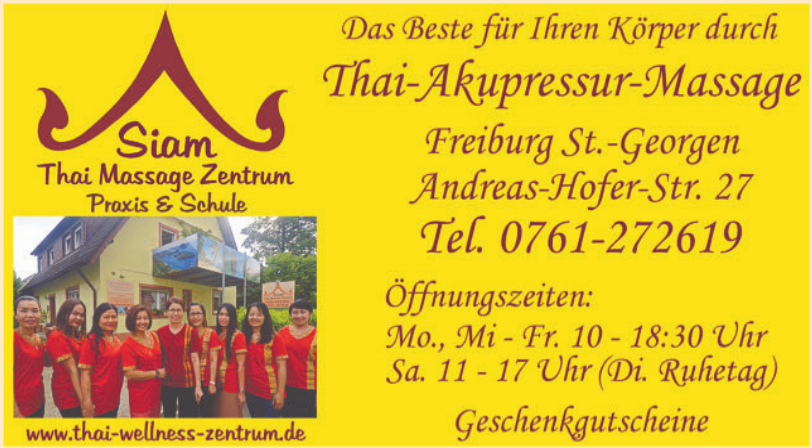 Siam Thai Massage Zentrum Praxis & Schule
