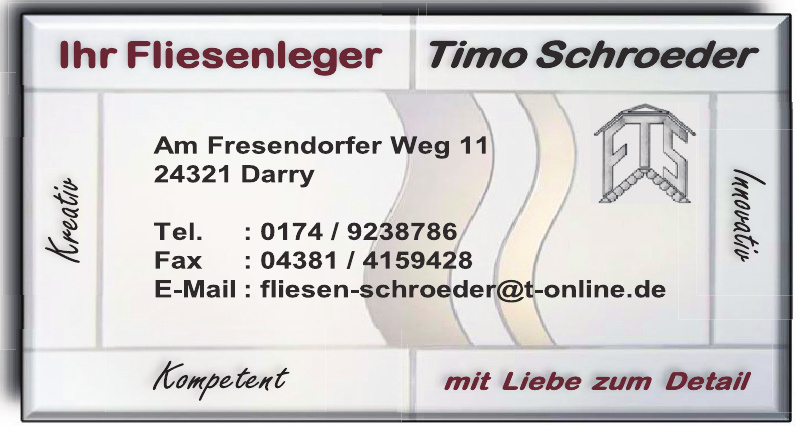 Fliesenleger Timo Schroeder