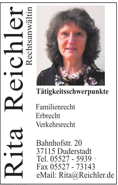 Rita Reichler Rechtsanwältin