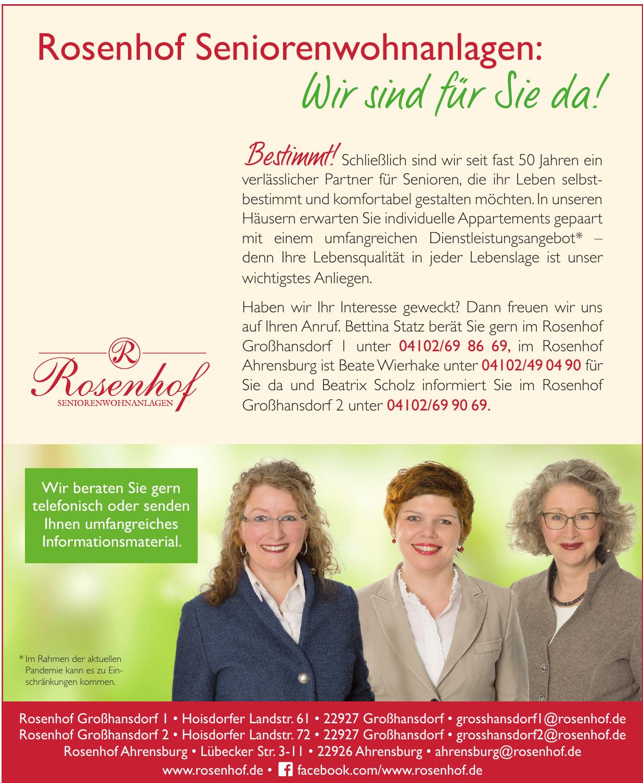 Rosenhof Seniorenwohnanlagen