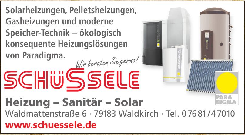 Schüssele Heizung – Sanitär – Solar