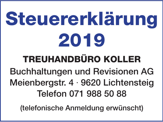 Koller Buchhaltungen und Revisionen AG