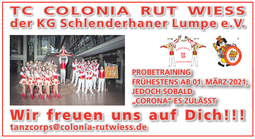 TC Colonia Rut Wiess der KG Schlenderhaner Lumpe e.V.