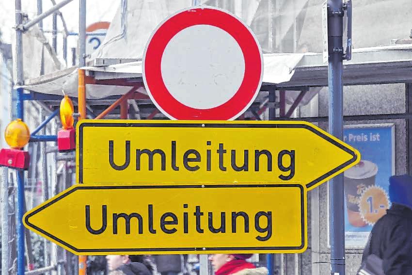 Straßen zeitweise gesperrt