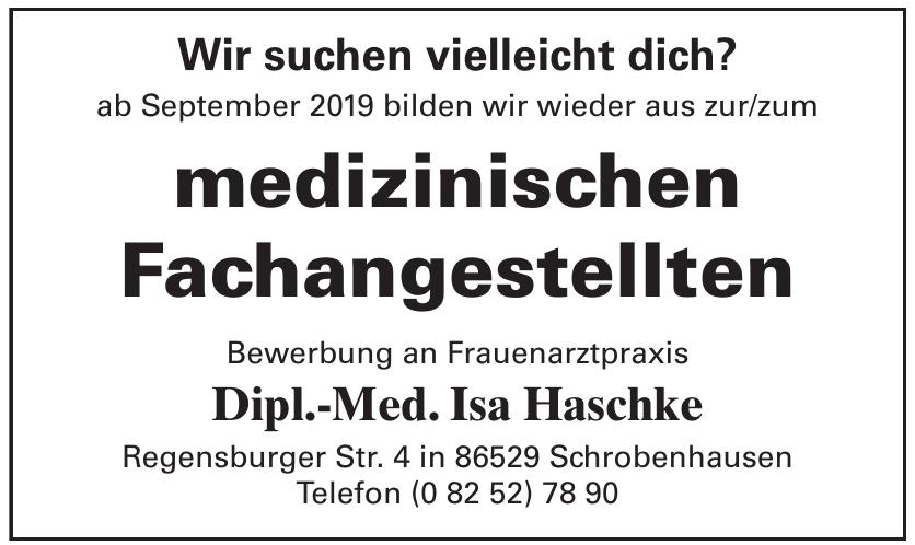 Bewerbung an Frauenarztpraxis Dipl.-Med. Isa Haschke