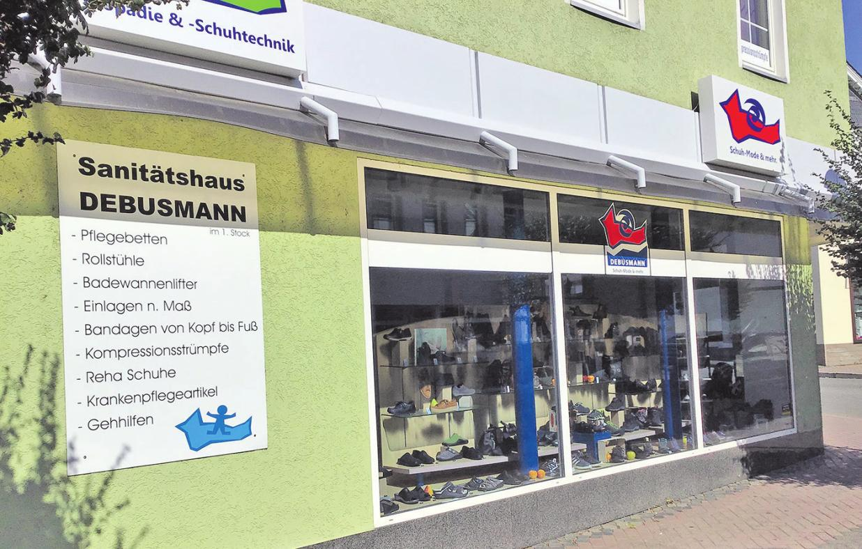 Schuh- und Sanitätshaus Debusmann GmbH   Römerstr. 9   Nastätten   Tel. 06772/8686