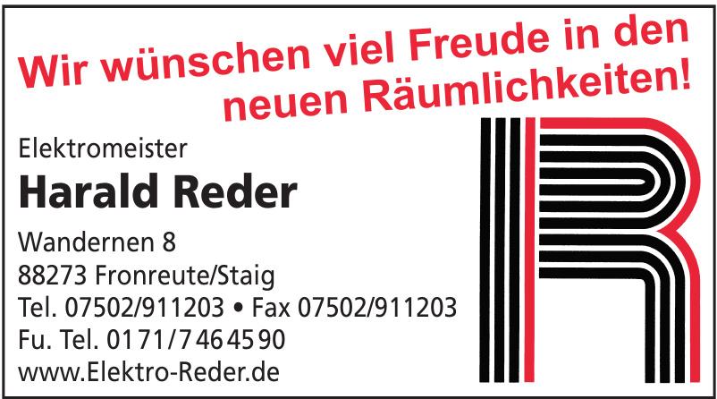Elektromeister Harald Reder