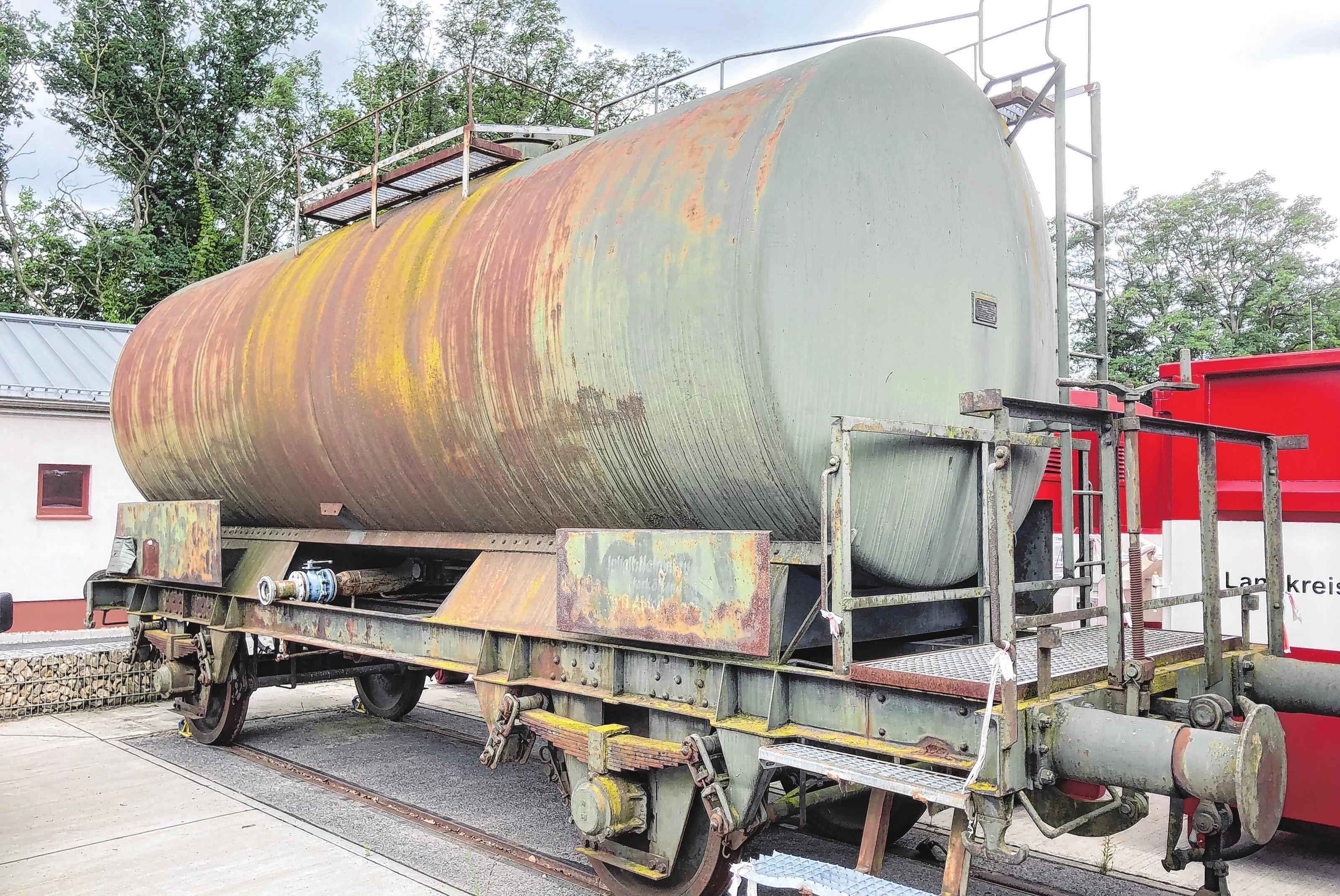 Chemiekesselwagen zu Übungszwecken. Foto: René Wernitz