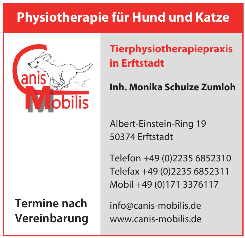 Canis Mobilis Tierphysiotherapiepraxis Erfstadt