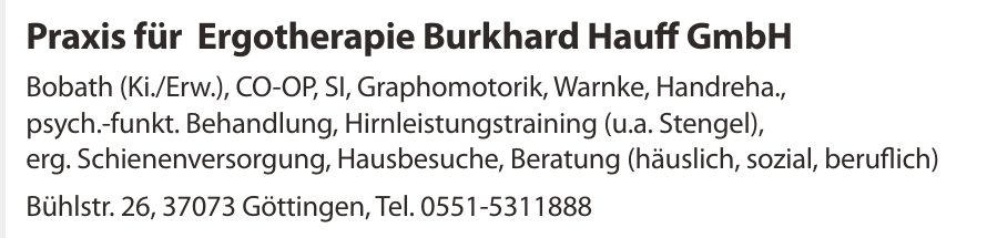 Praxis für Ergotherapie Burkhard Hauff GmbH
