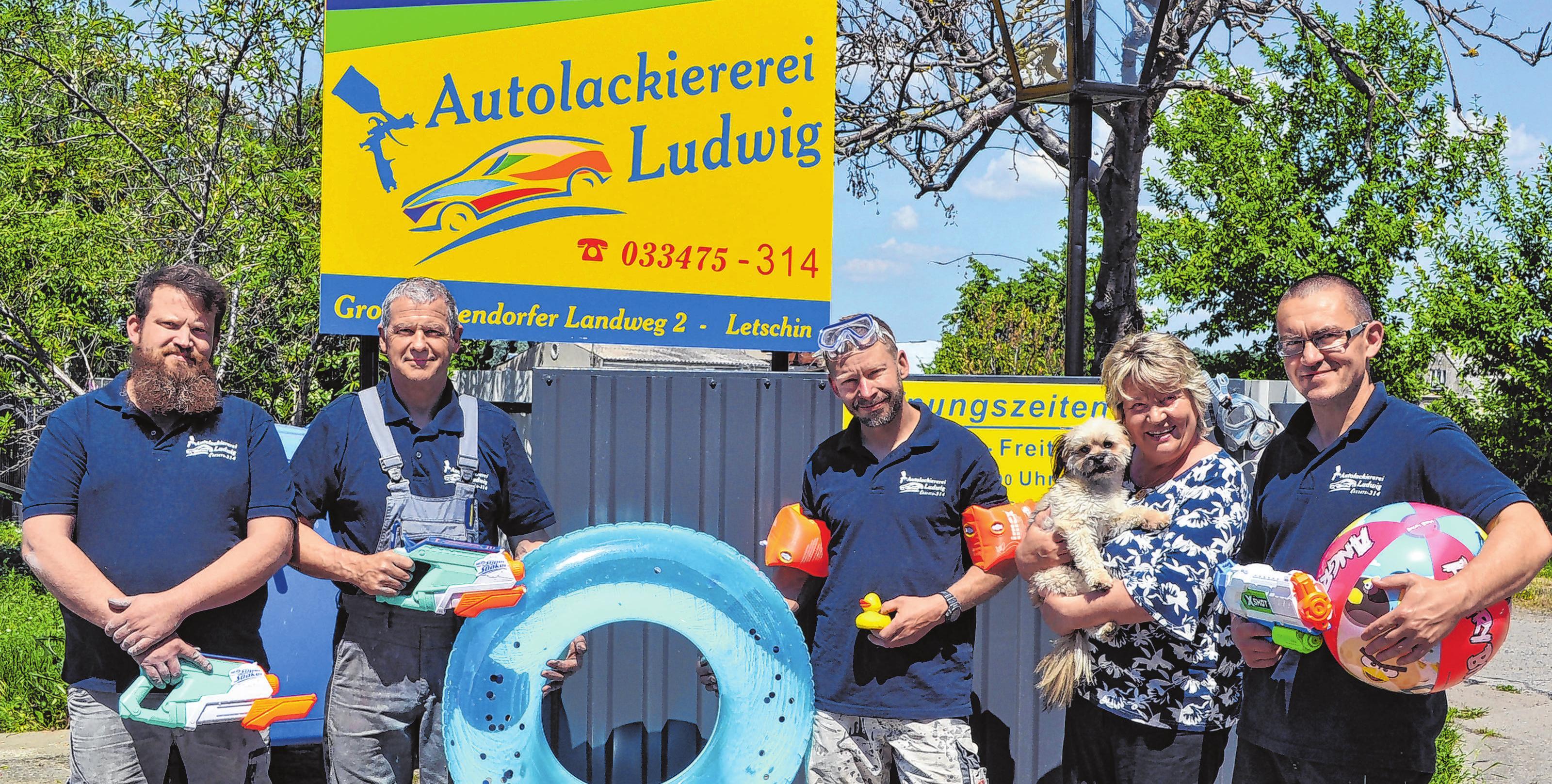 Immer gut drauf: Das Team der Letschiner Autolackiererei Ludwig Fotos (3): Cornelia Mikat
