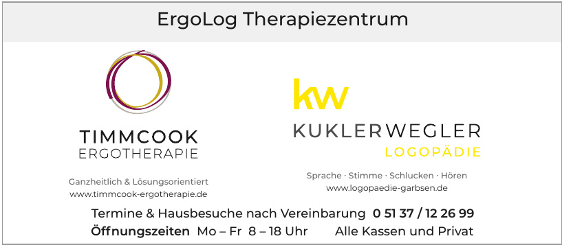 ErgoLog Therapiezentrum - Timmcook Ergotherapie