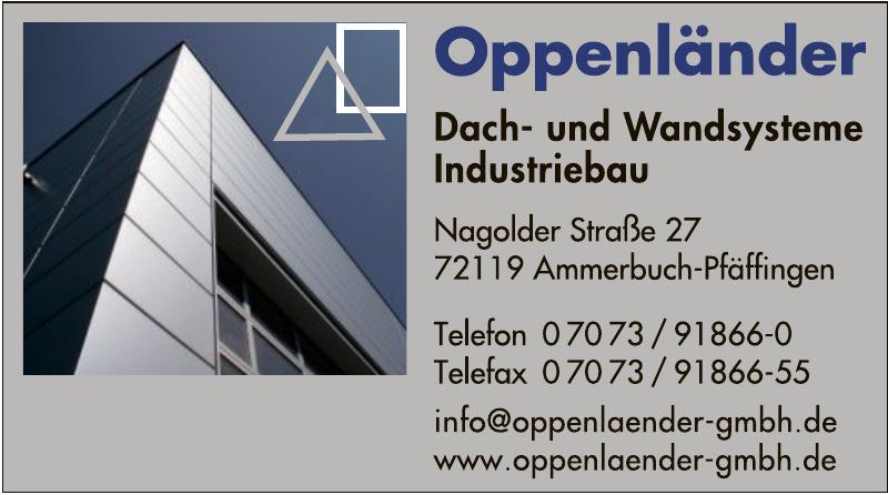 Oppenländer Dach- und Wandsysteme Industriebau