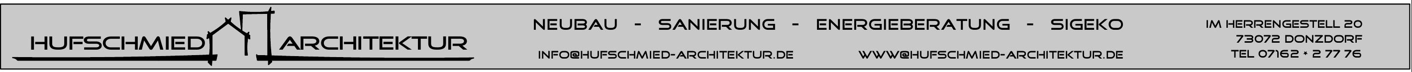 Hufschmied Architektur