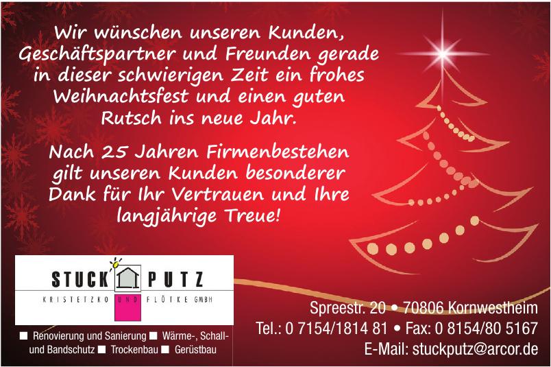 Stuckputz Kornwestheim Kristetzko und Flötke GmbH