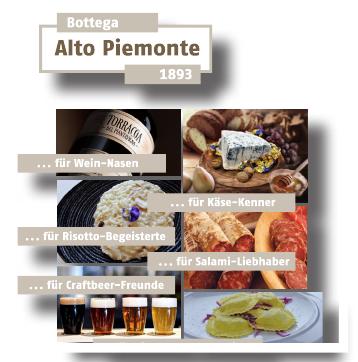 BU Bottega Alto Piemonte 1893 liefert bereits.
