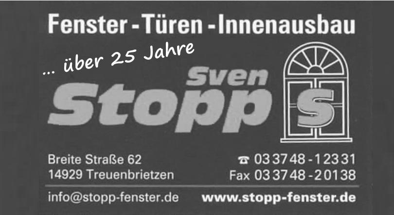 Fenster-Türen-Innenausbau Sven Stopp