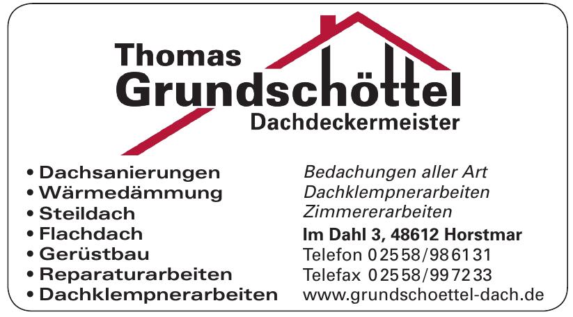 Thomas Grundschöttel - Dachdeckermeister