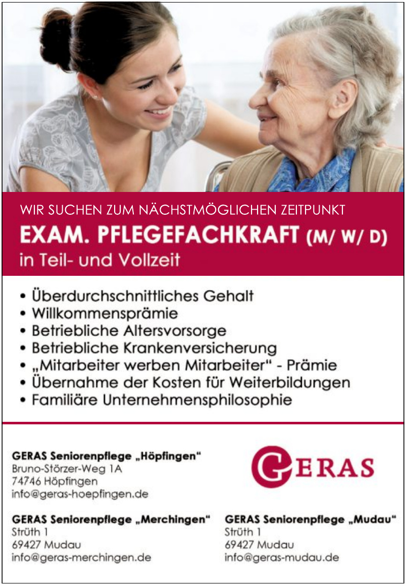 GERAS Seniorenpflege GmbH - Seniorenpflege Höpfingen