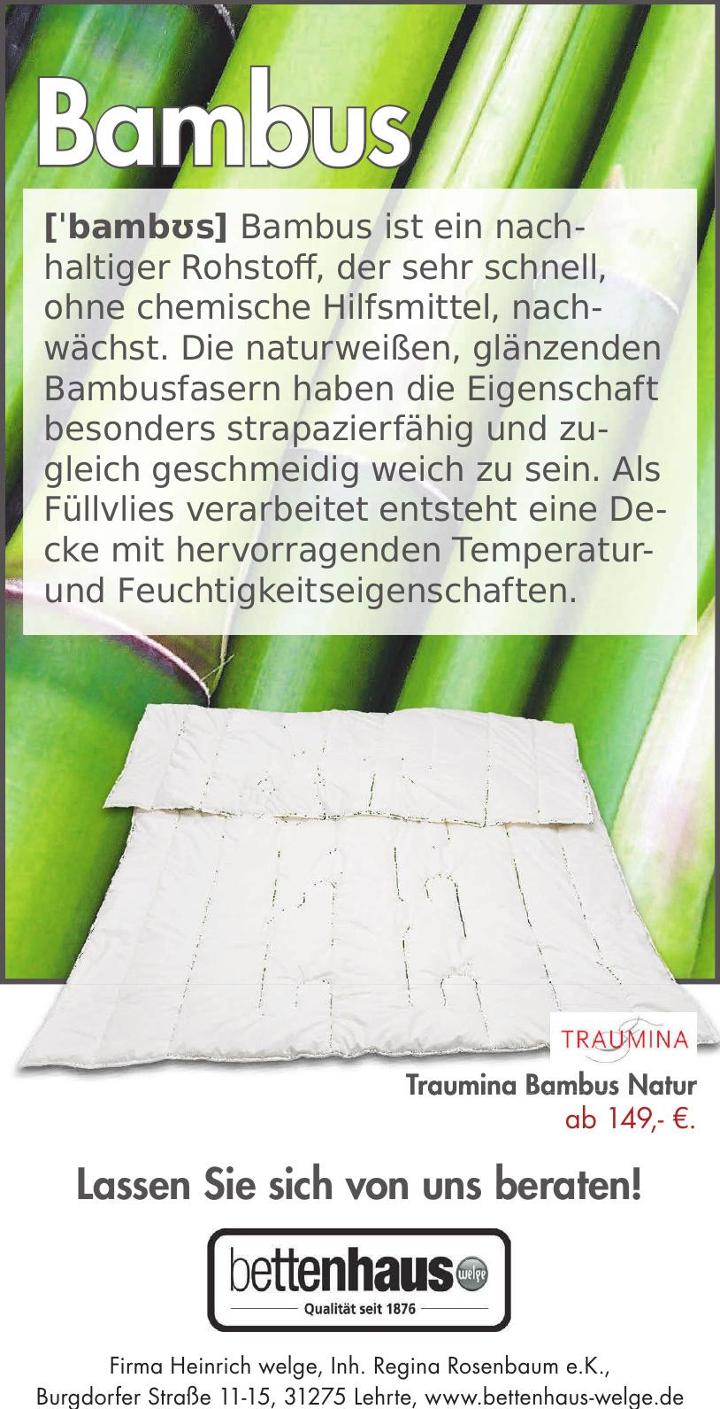Firma Heinrich welge, Inh. Regina Rosenbaum e.K.