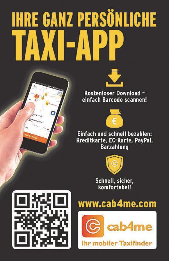 Mit der neuen App cab4me ist nun auch bargeldloses Zahlen möglich.